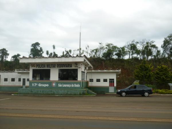 Visão da Polícia Rodoviária com a divisa da área rural